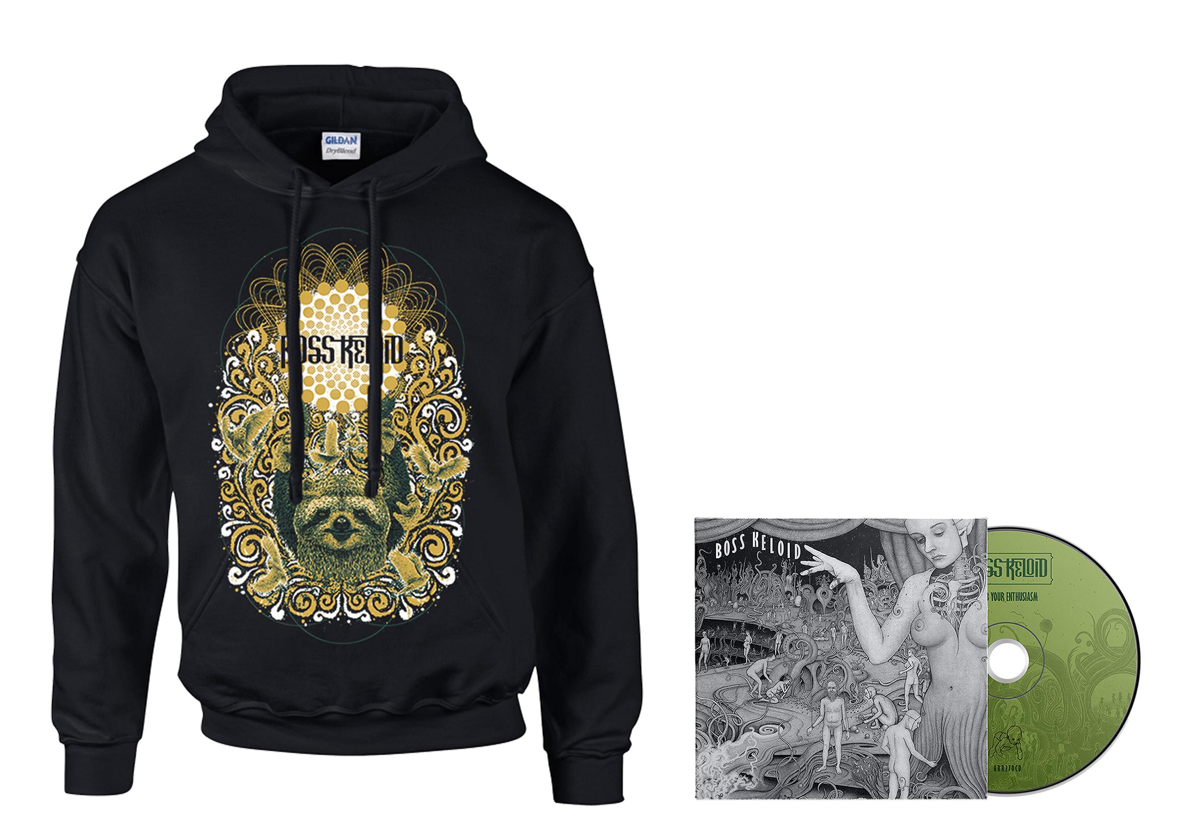 Boss Keloid - Herb Your Enthusiasm hoodie + CD PREORDER