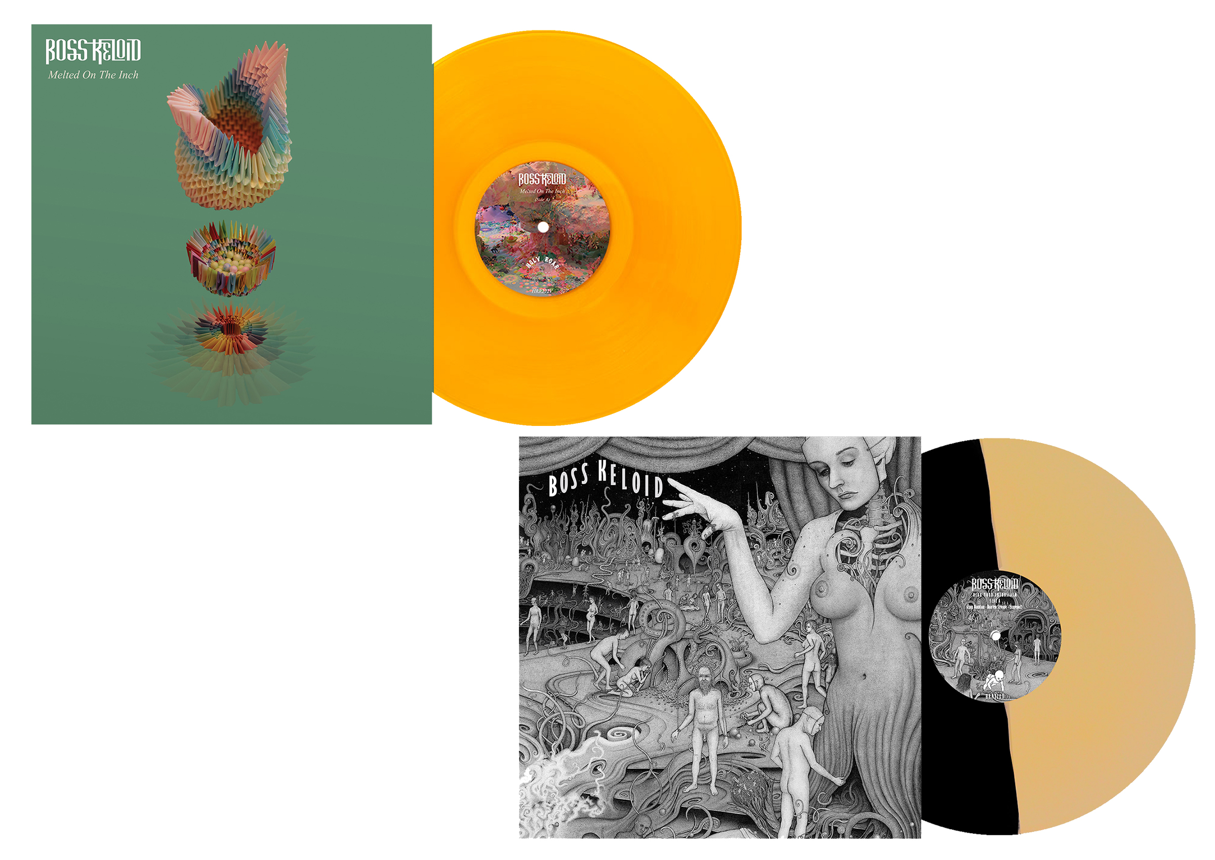 Boss Keloid - Herb your Enthusiasm + Melted On The Inch LP bundle PREORDER