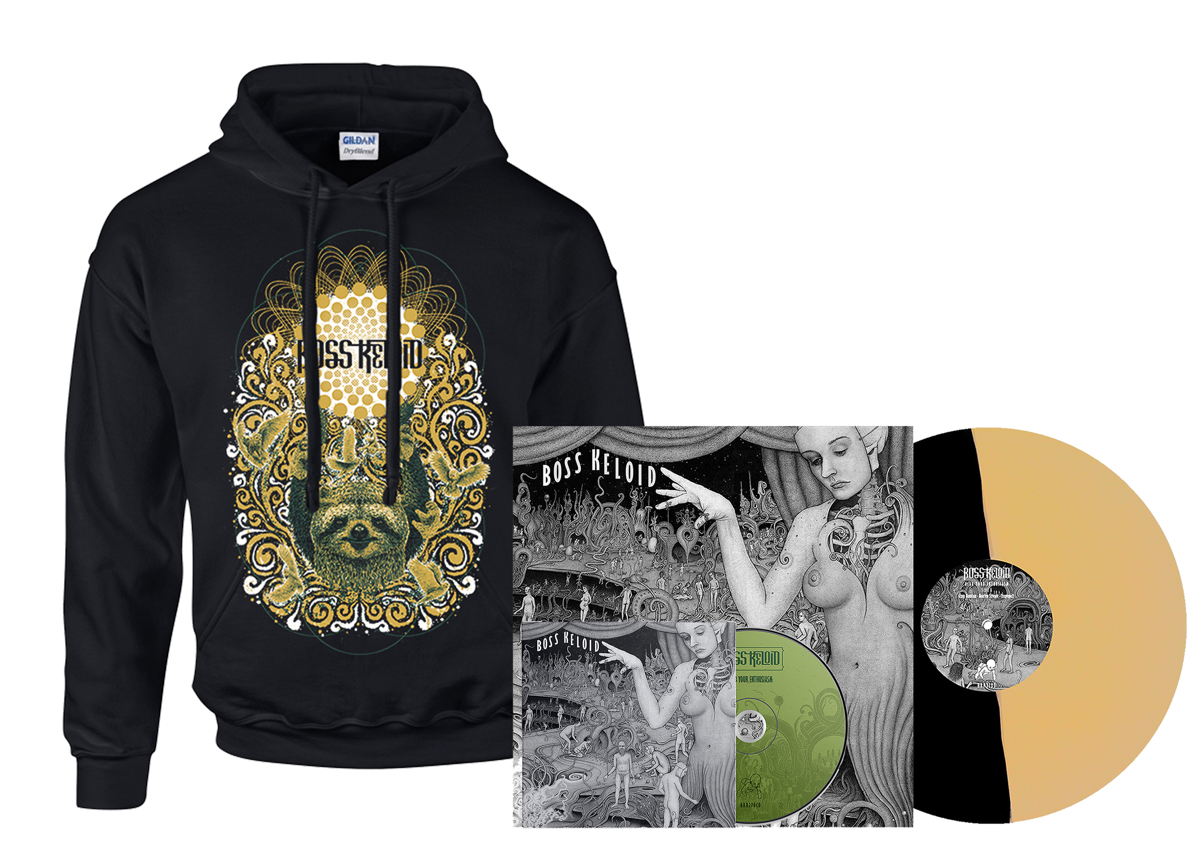 Boss Keloid - Herb Your Enthusiasm hoodie + 2xLP + CD