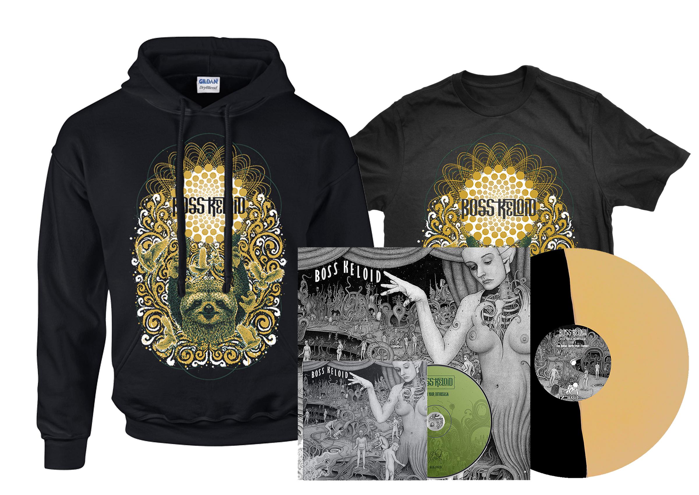 Boss Keloid - Herb Your Enthusiasm shirt + hoodie + 2xLP + CD PREORDER