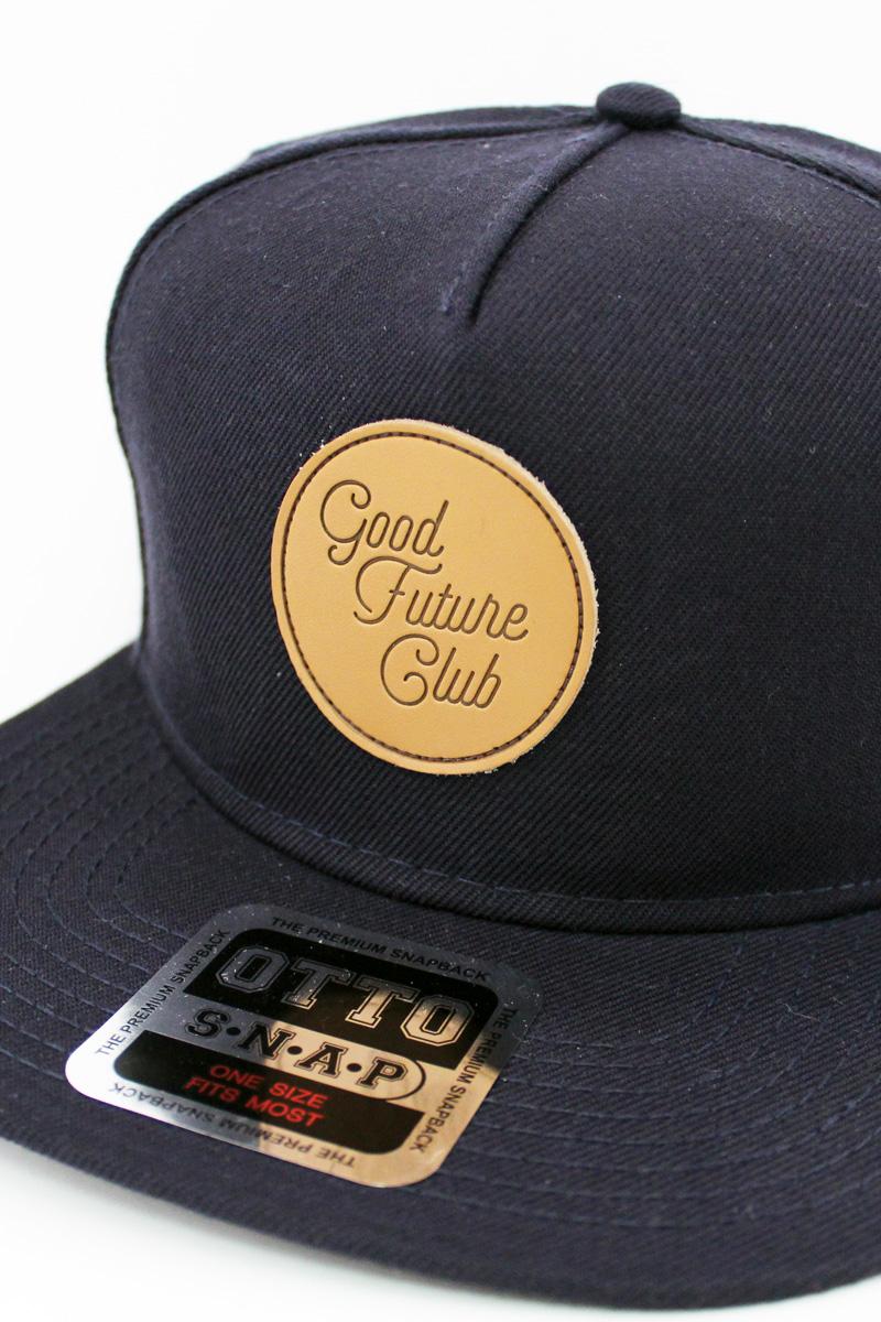 Snapback Hat w/ Stacked Script Logo Blue