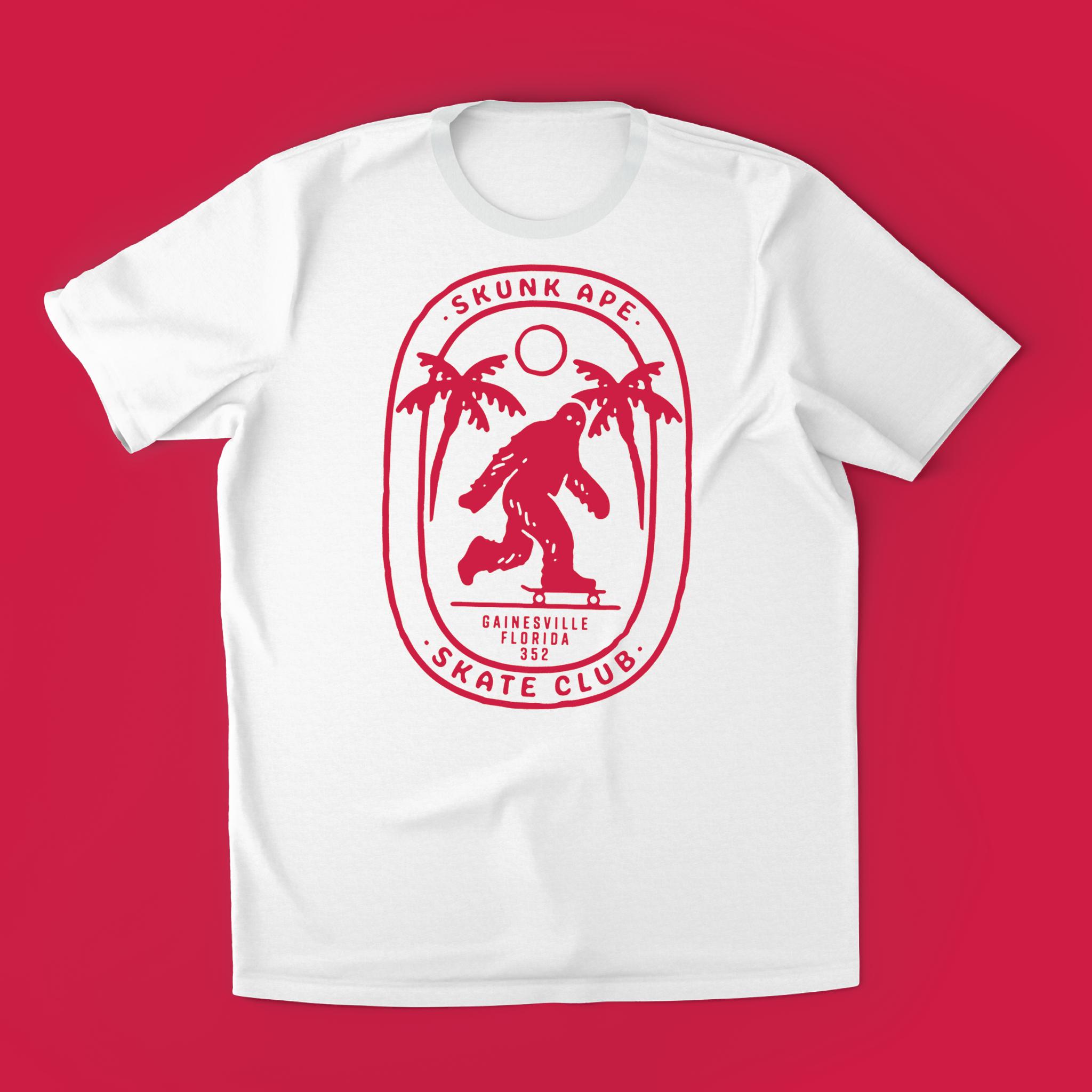 Skunk Ape Skate Club T-shirt