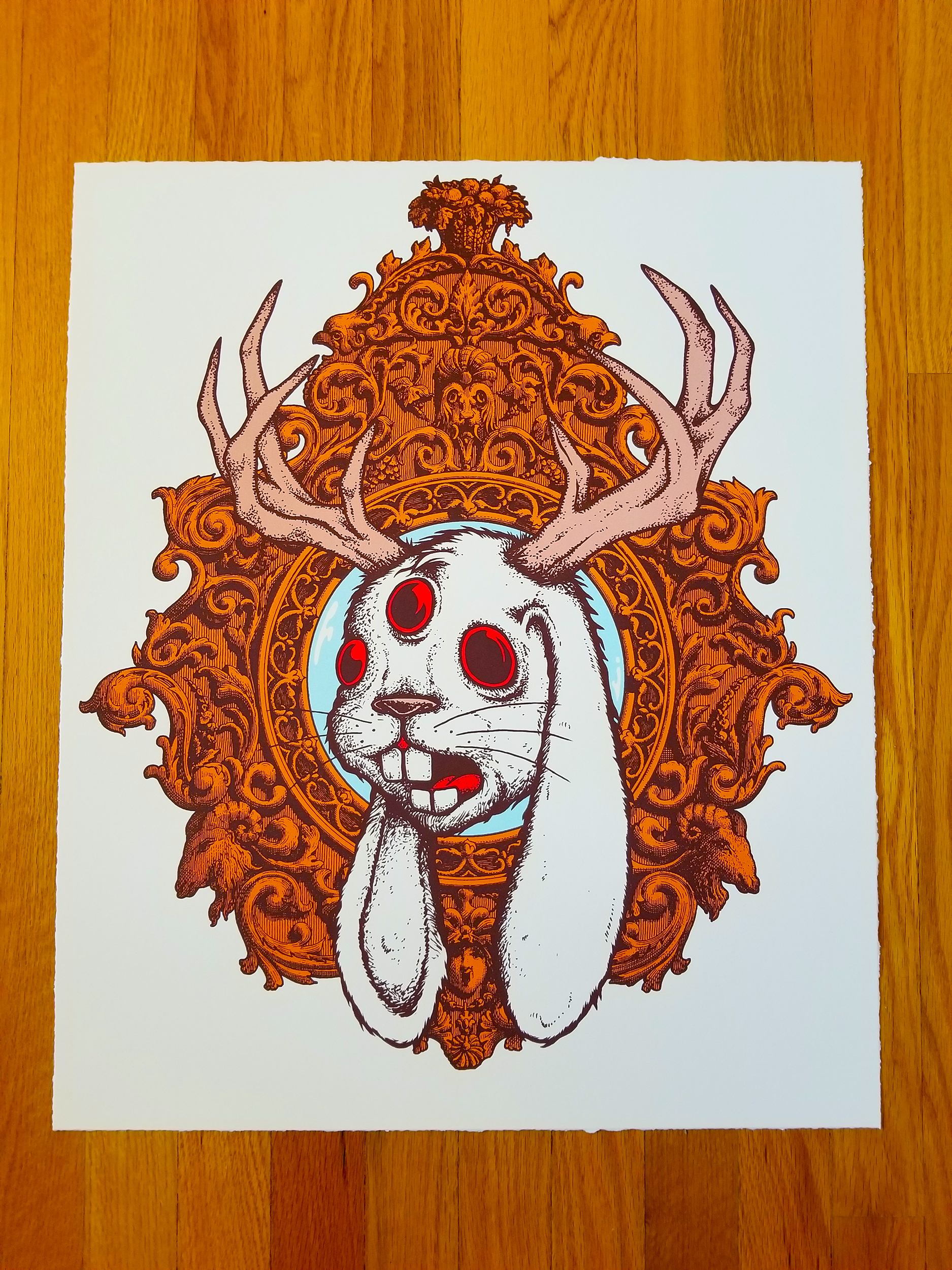 New - 'JACKALOPE' Art Print (Gallery Edition - STUDIO COPIES)