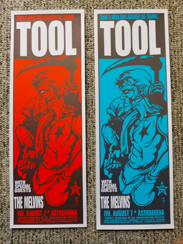 TOOL / Melvins (98) Handbill (RED & BLUE Variants)