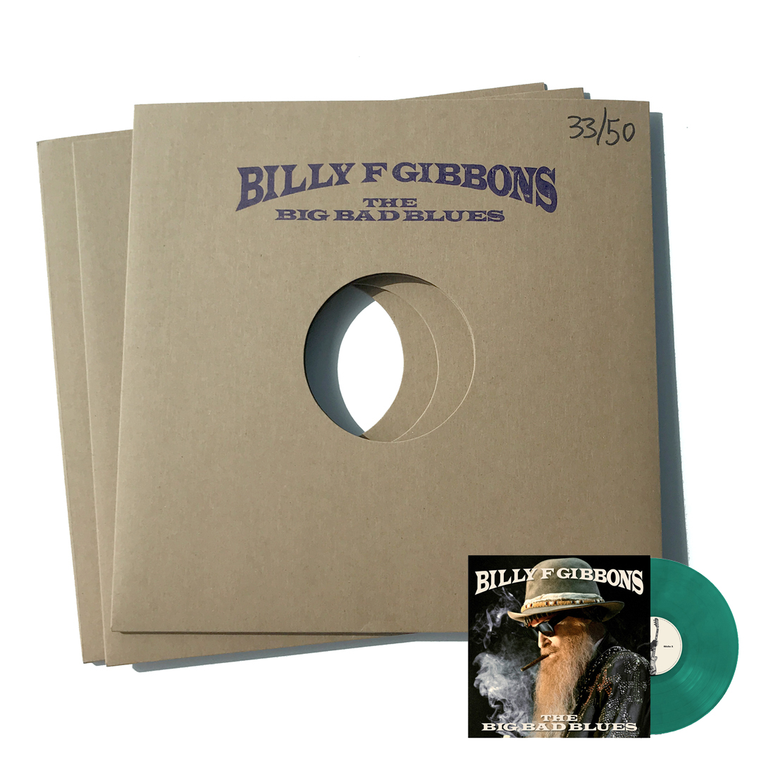 signed vinyl test pressing + green lp bundle - billy gibbons
