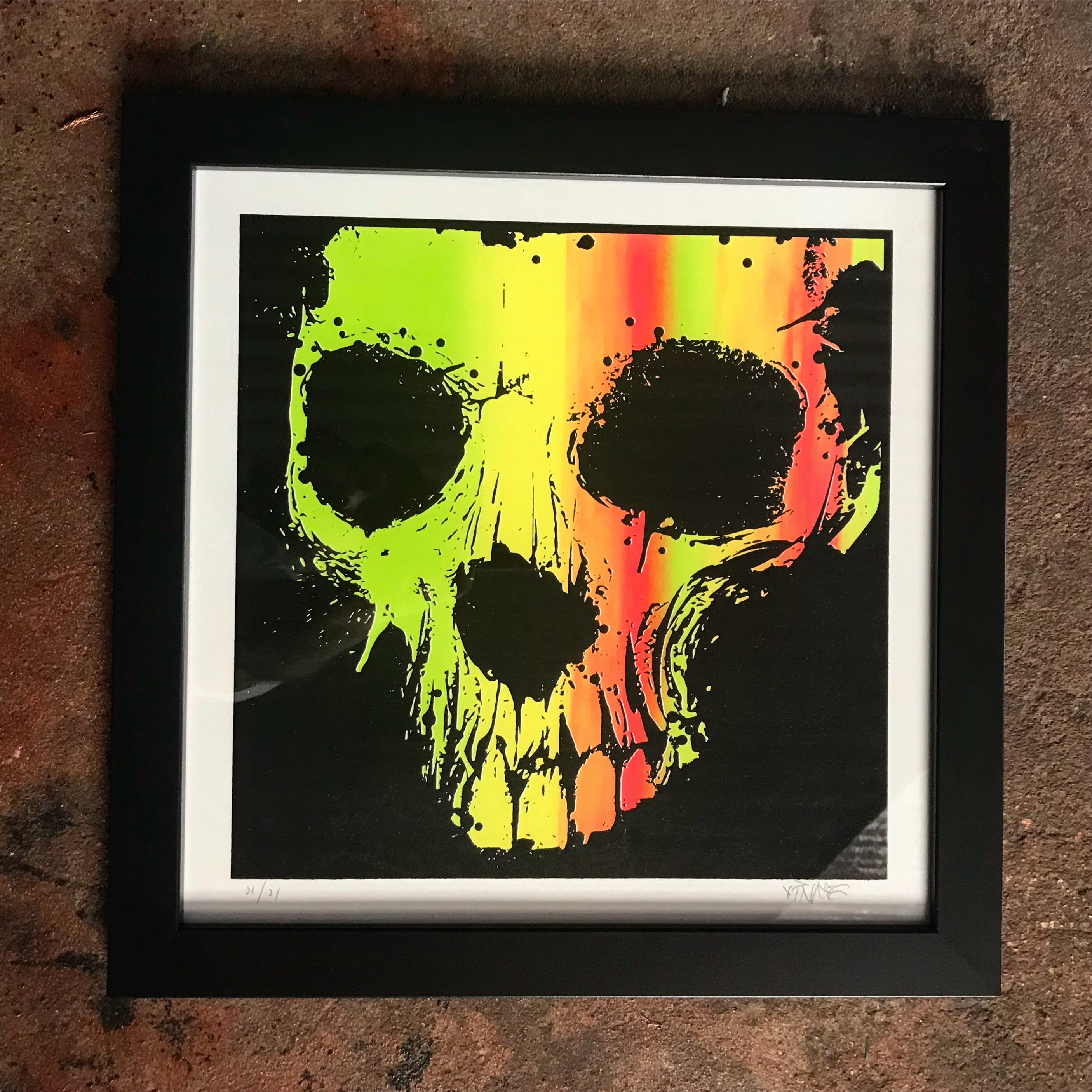 "14 x 14 Limited Hand Screened Skull ""I've Seen The Light"" Print"