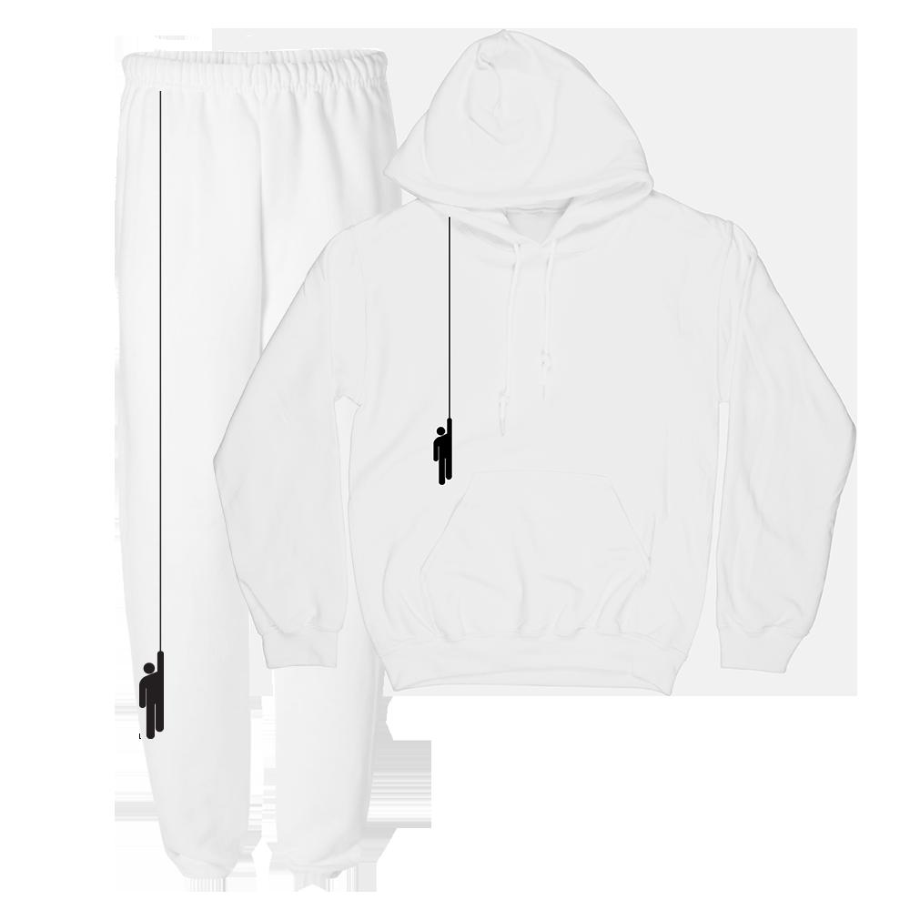 White Hoodie + Sweatpants