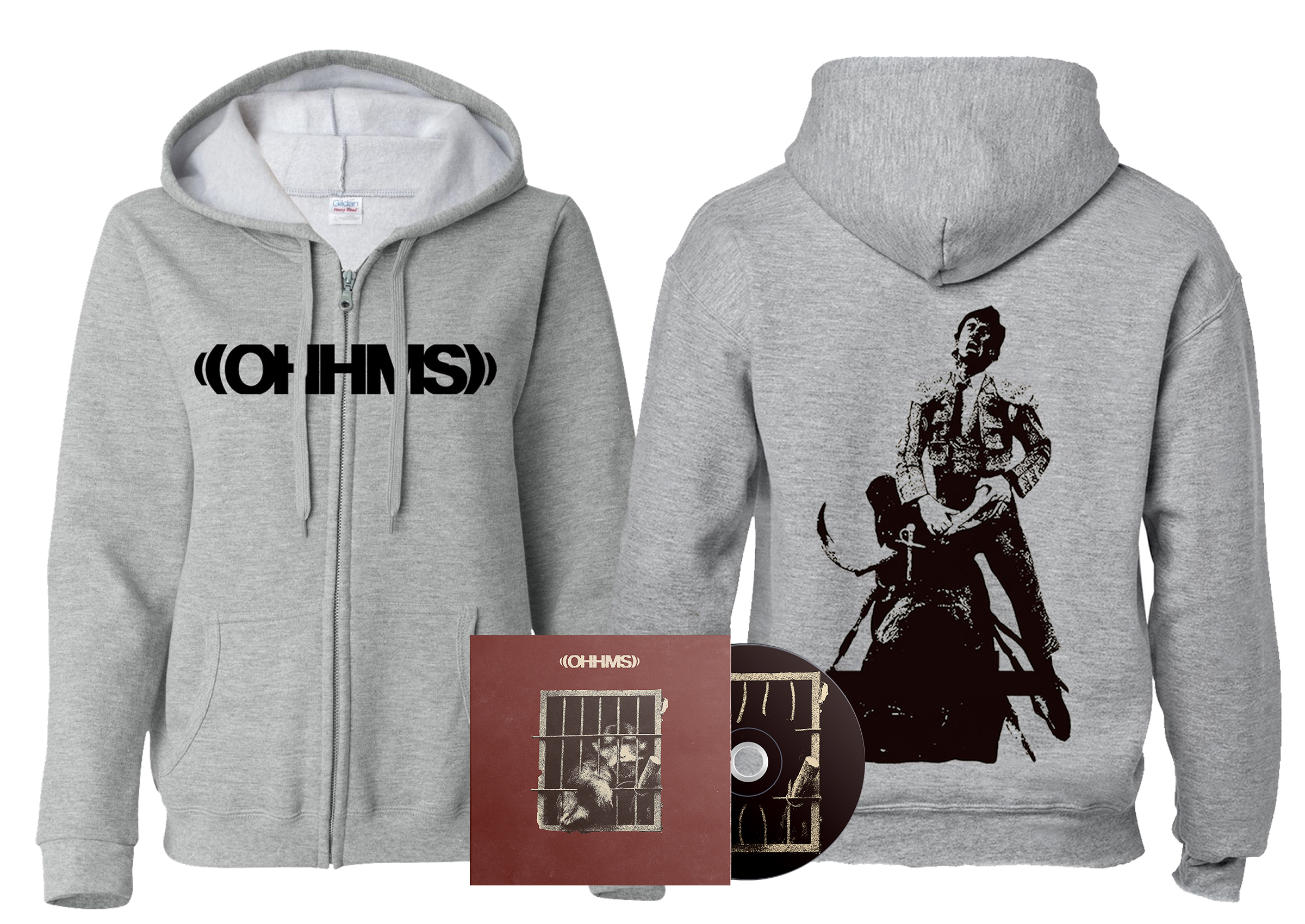 OHHMS - Exist Matador zip-up hoodie + CD