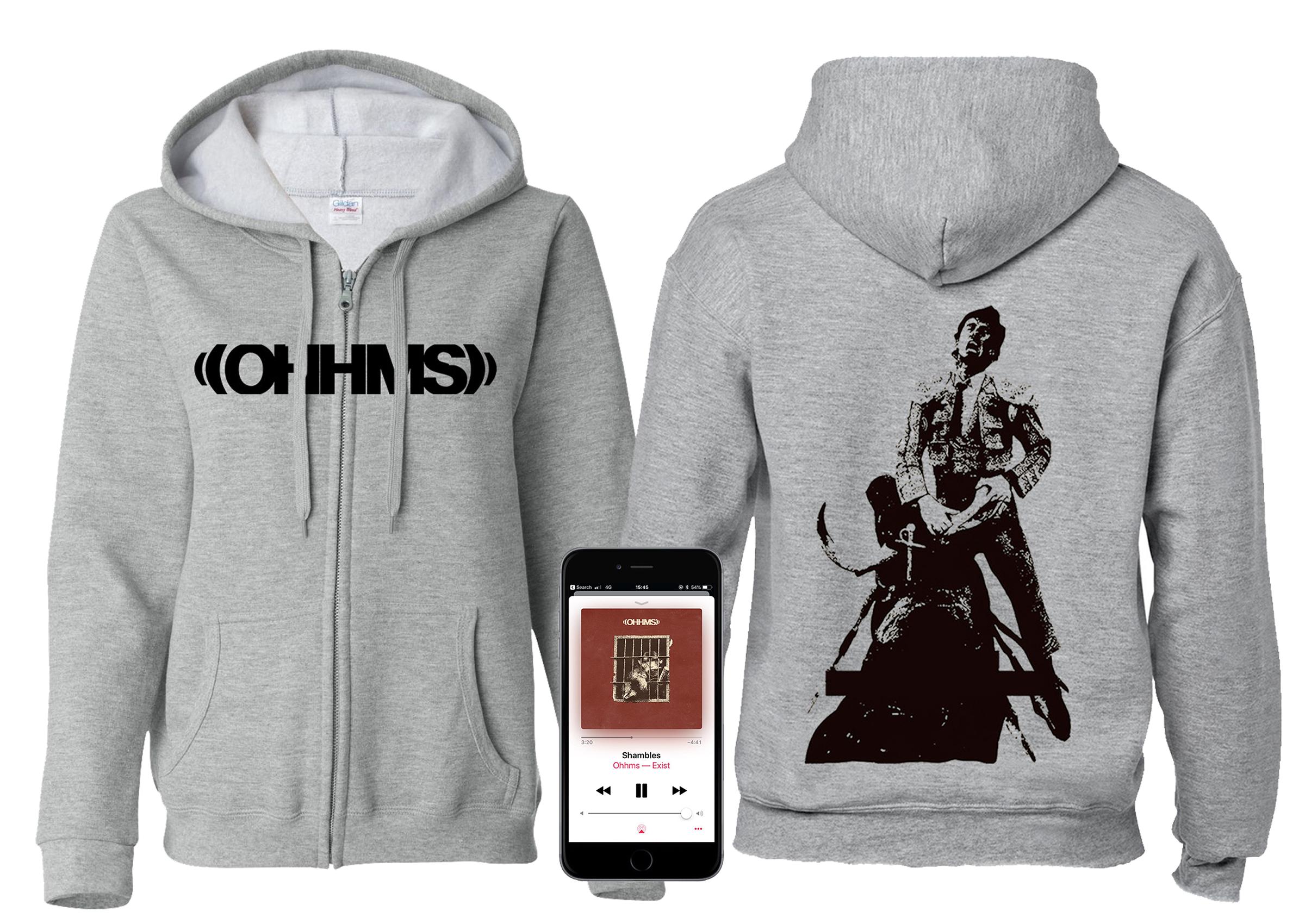 OHHMS - Exist Matador zip-up hoodie + Digital Download