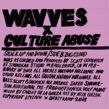Wavves / Culture Abuse  Up and Down b/w Big Cloud 7