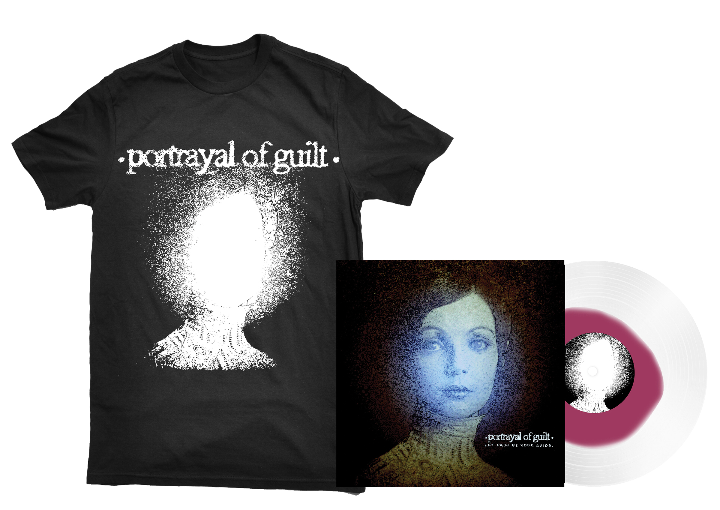 Portrayal of Guilt - 'Let Pain Be Your Guide' lightheaded shirt + LP