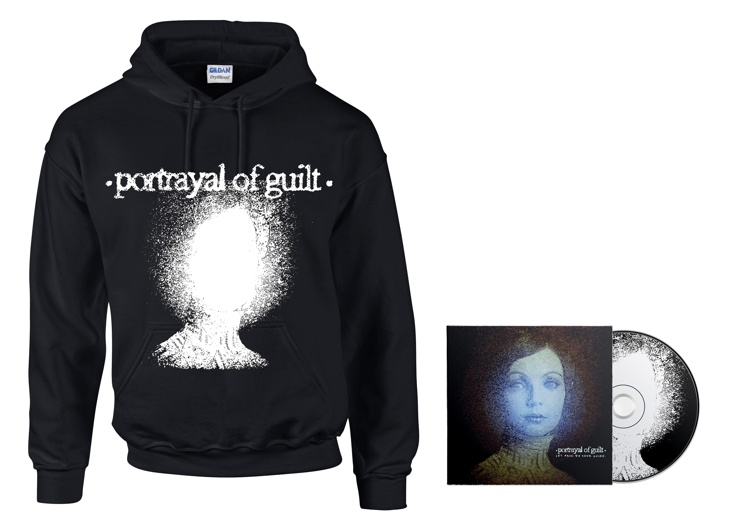 Portrayal of Guilt - 'Let Pain Be Your Guide' lightheaded hoodie + CD