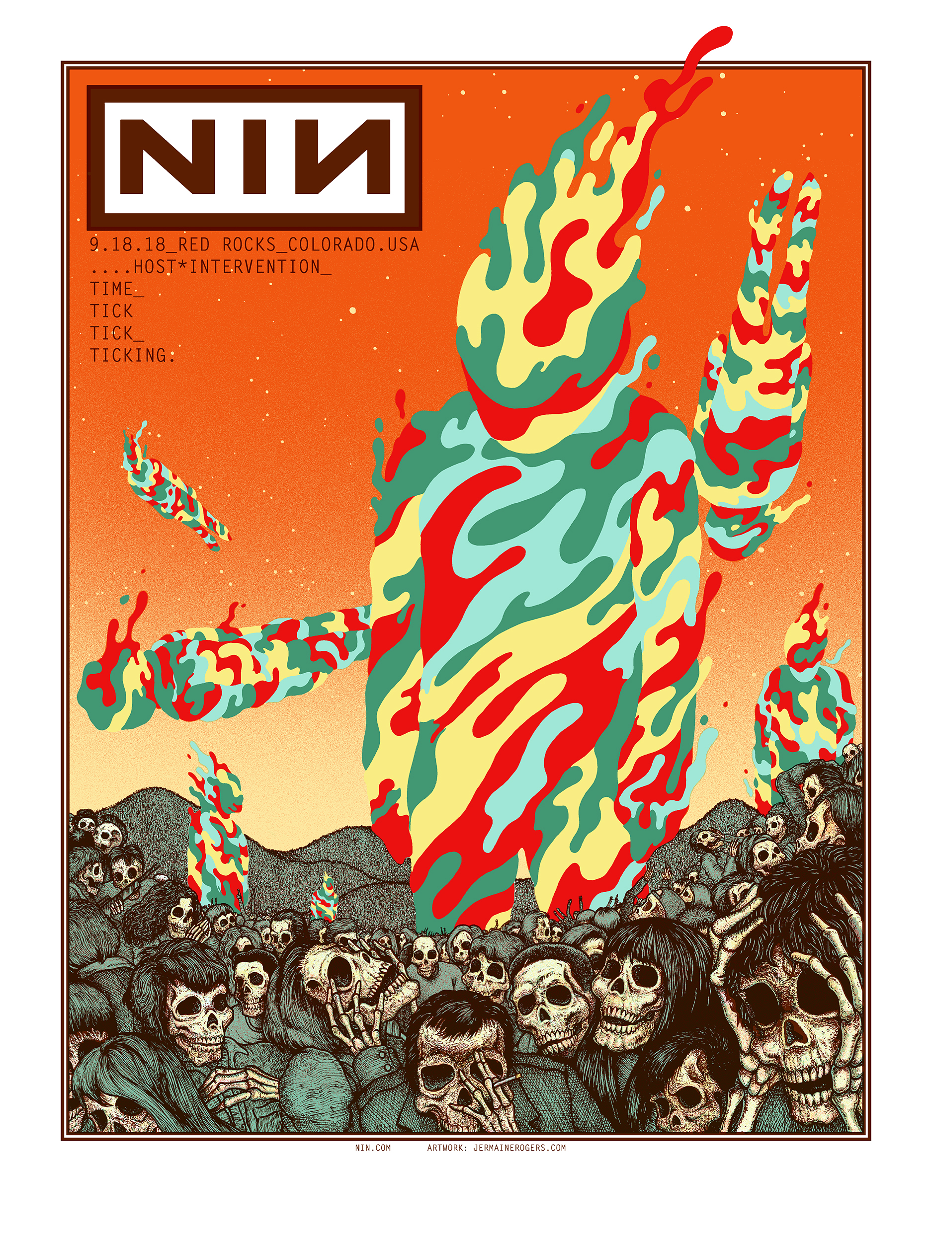 NEW - NineInchNails (Red Rocks 2018) - Artist Edition, SPARKLE FOIL, Lava Foil A/P's
