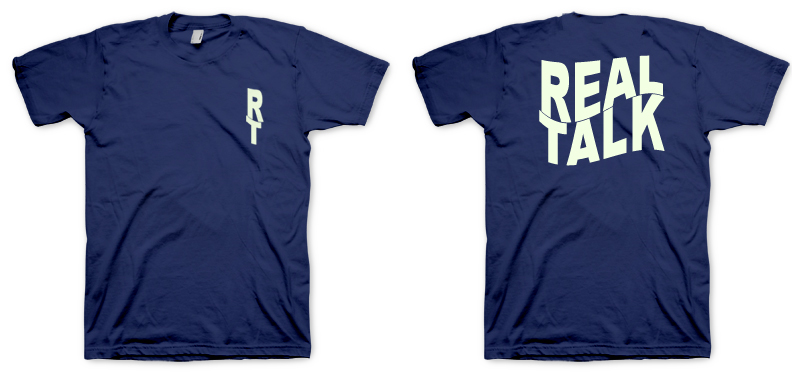 REAL TALK - Wavy Logo Tee