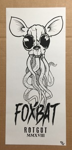 Rotgut- Tentacle Skull Screen Print