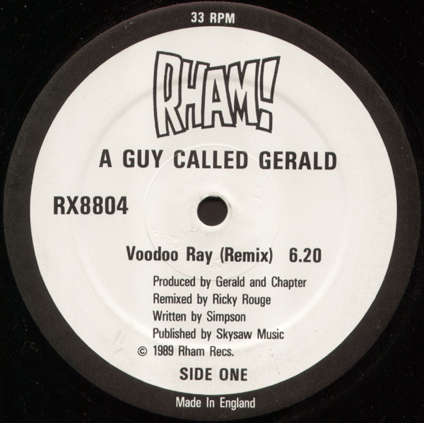 A Guy Called Gerald ‎– Voodoo Ray (Remix) (Rham!)