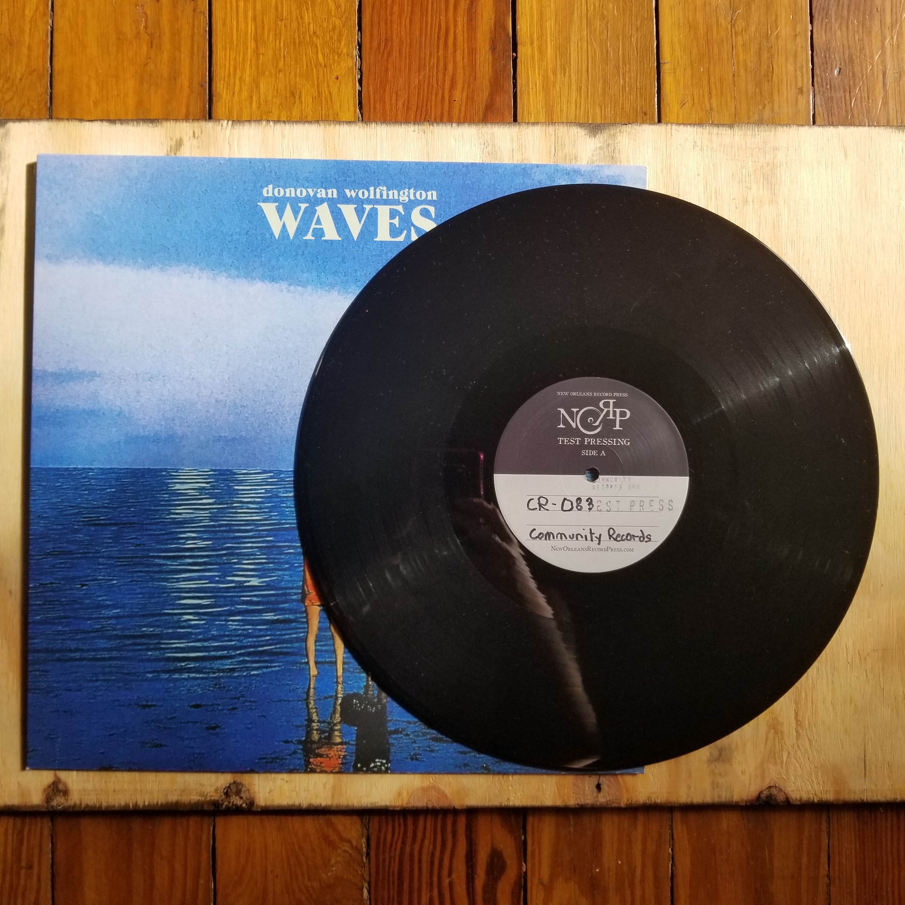 community records - test pressing - donovan wolfington - waves - vinyl
