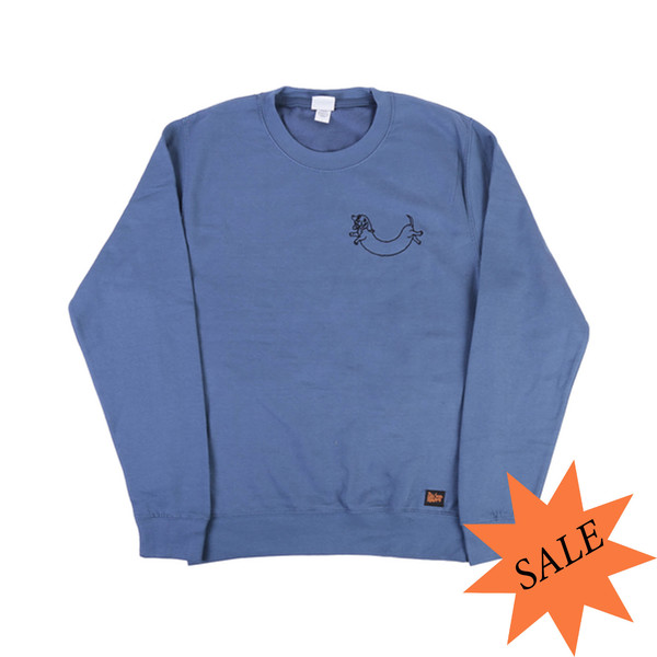 BSM Embroidered Logo Sweatshirt - Charcoal / Blue