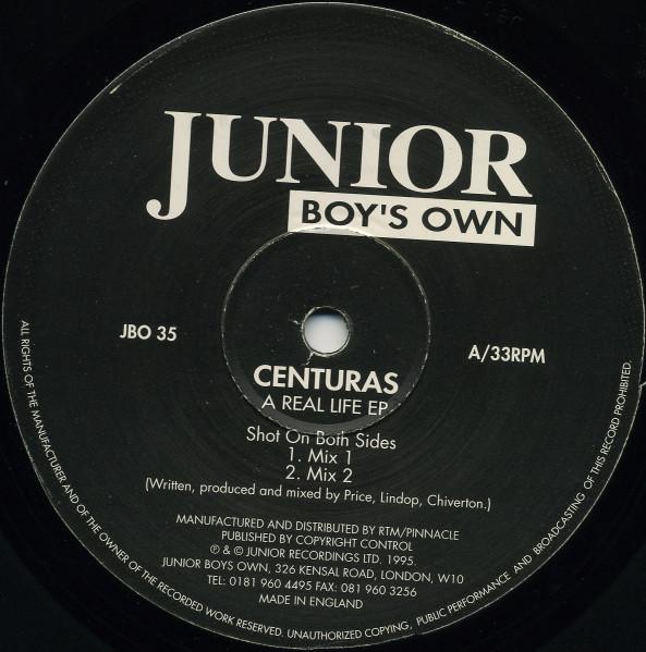Centuras – A Real Life EP (Junior Boys Own)