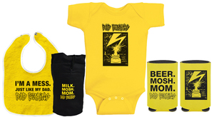 Dad Brains Onesie + Bib + Coozie Bundle