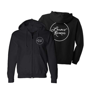 Lauren Records Circle Zip Up Hoodie (Black)