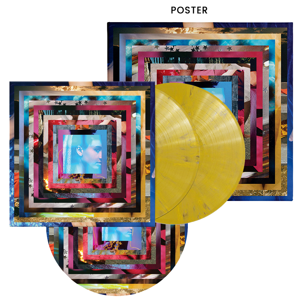 Ochre Yellow Marbled 2xLP + Turntable Mat + Poster