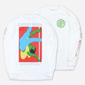 Parquet Courts SHOWTIME WHITE LONG SLEEVE T-SHIRT