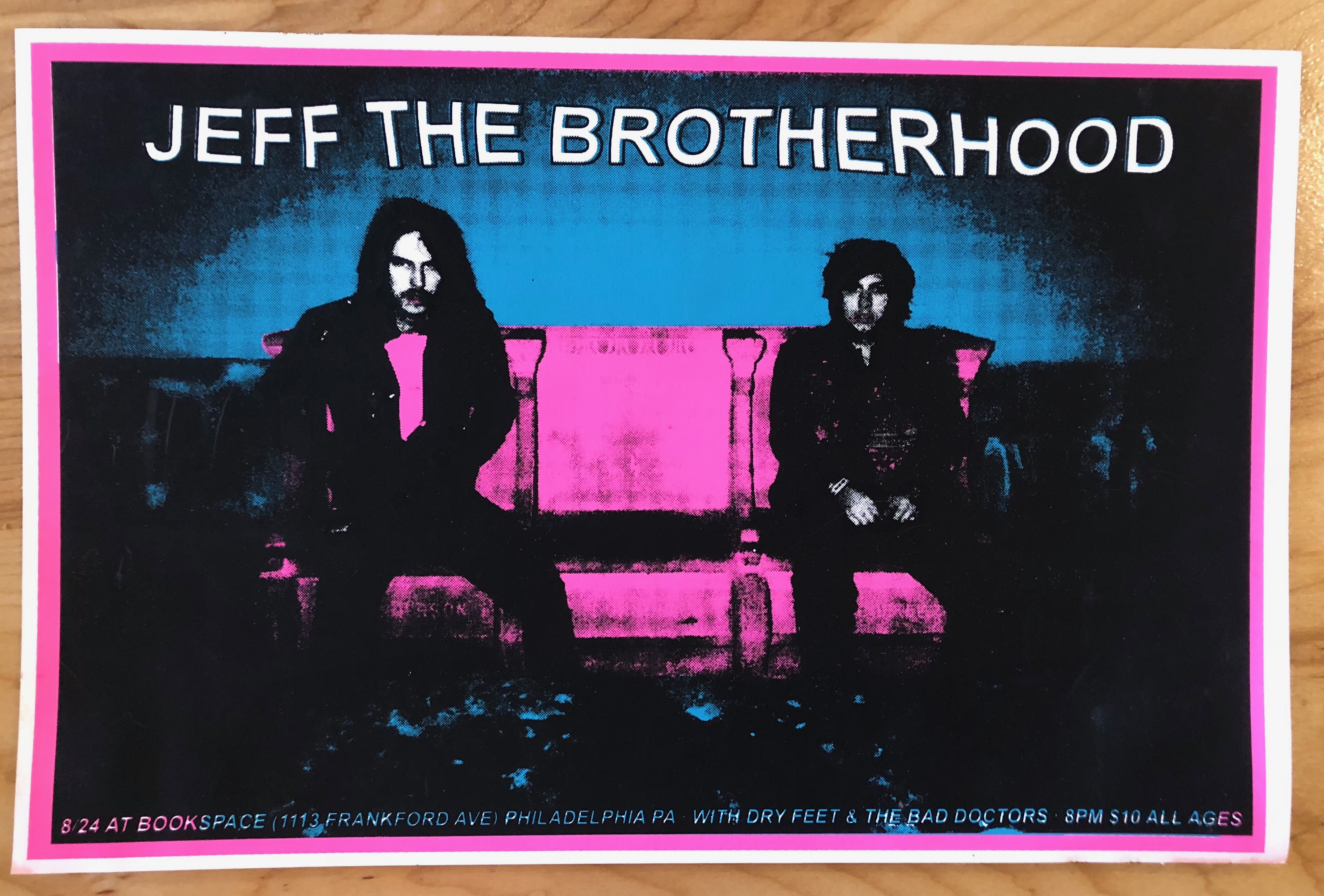 JEFF The Brotherhood/Dry Feet, one screened, one printed