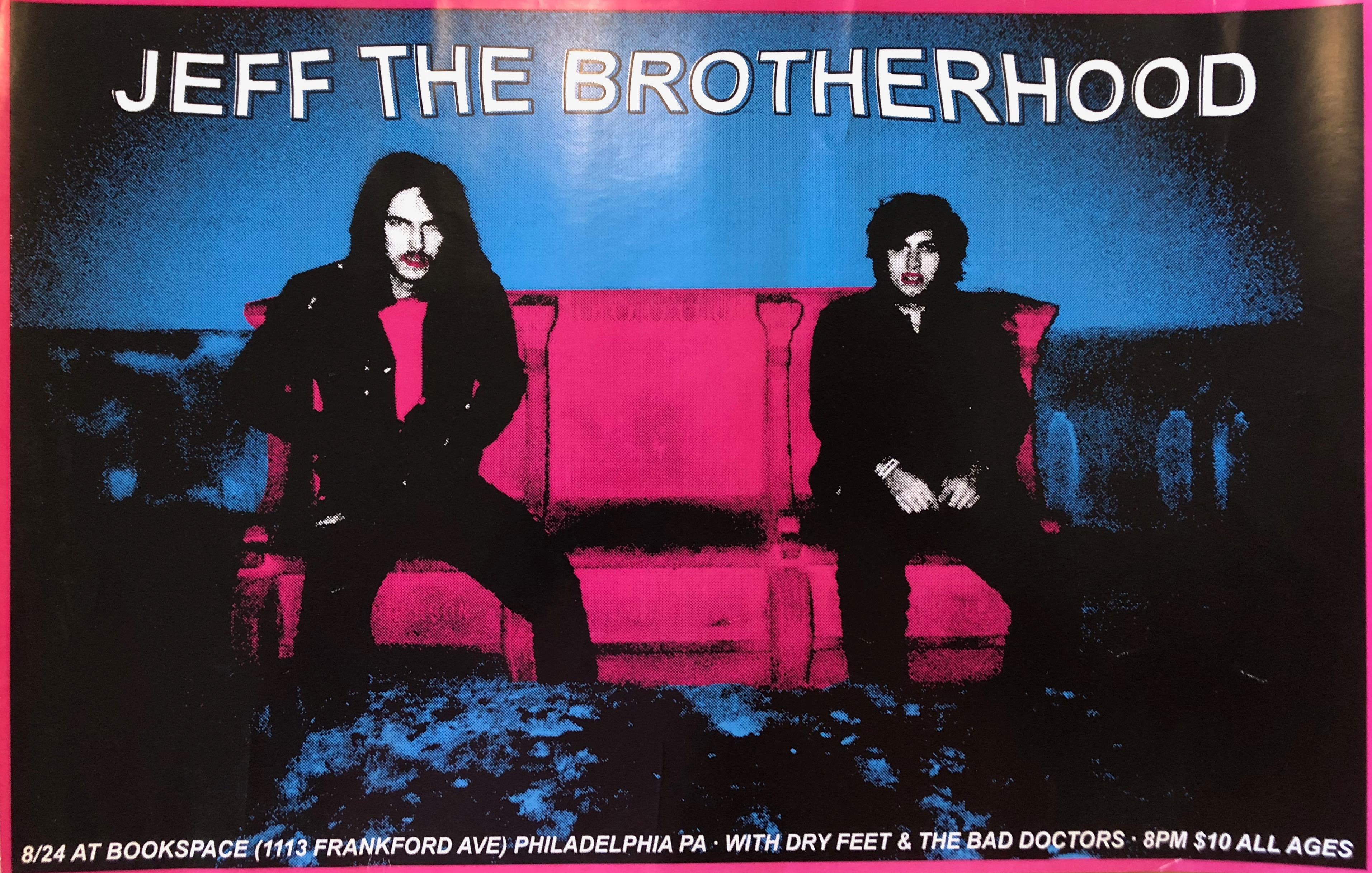 JEFF The Brotherhood/Dry Feet, one screened, one printed