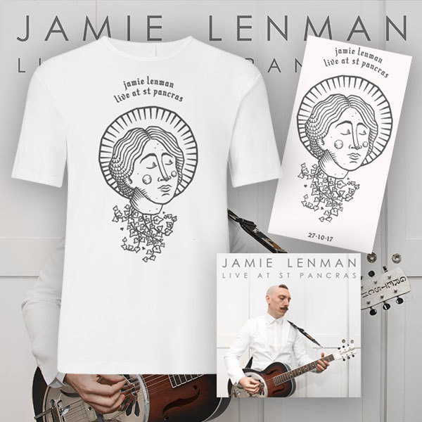 Jamie Lenman – Live at St Pancras – Double LP/DVD, CD/DVD – Print & T-Shirt Bundle