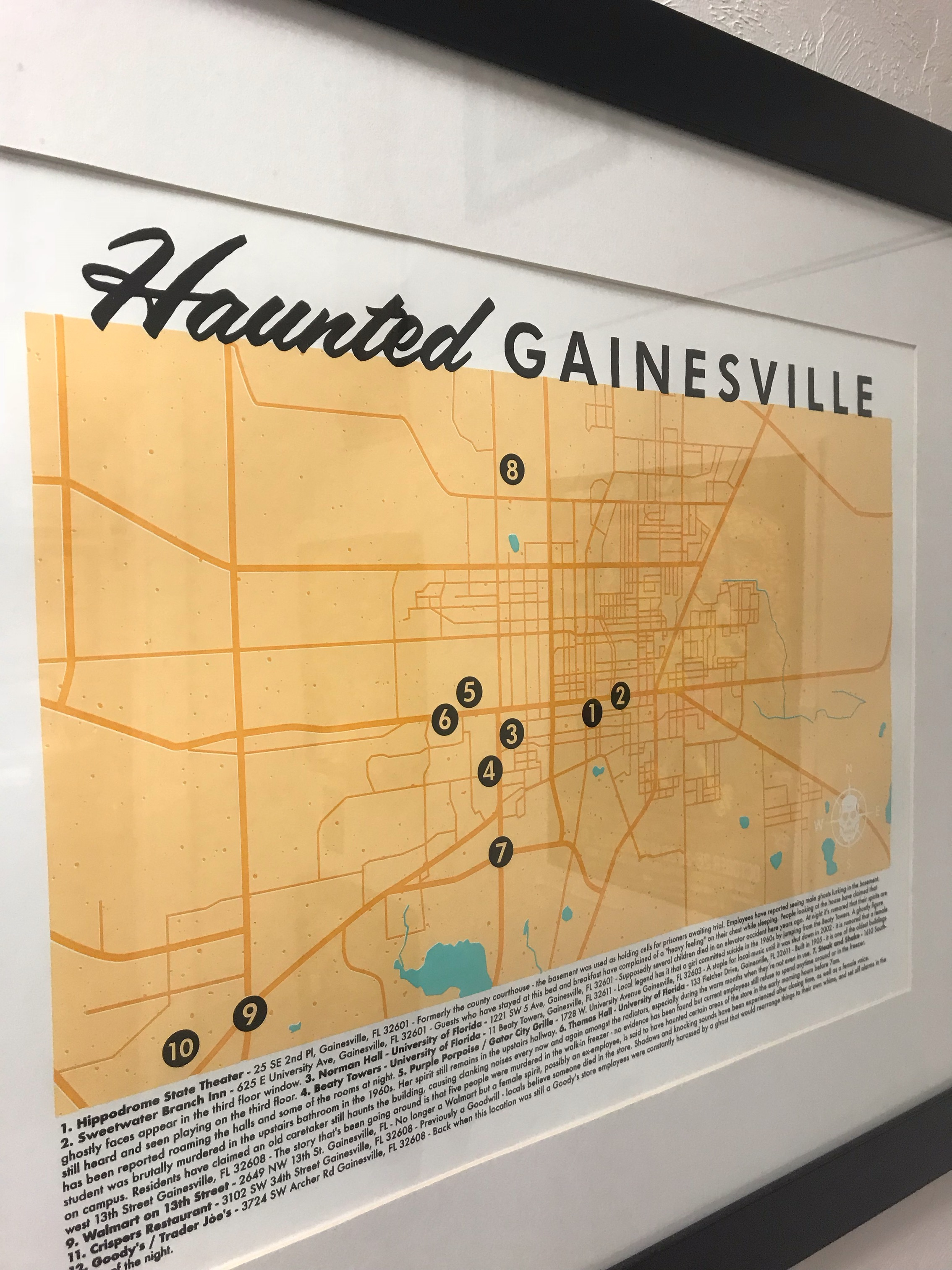 Haunted Gainesville Screen Printed Poster