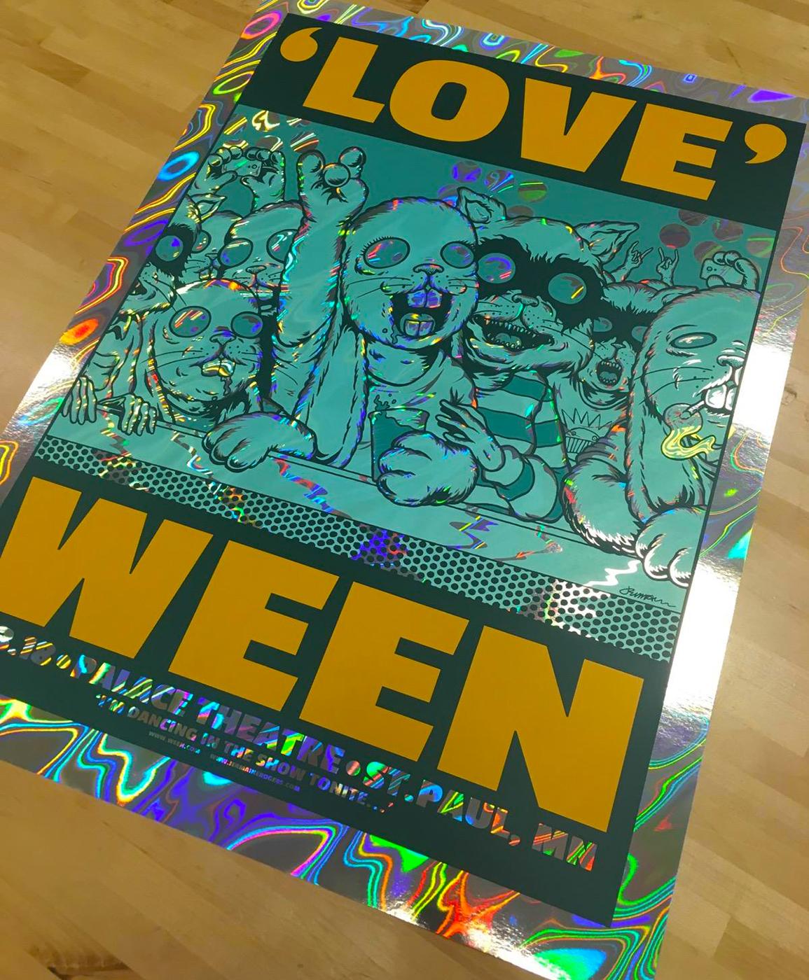 NEW - WEEN (2018 St. Paul) Nov. 3rd / 4th (BOTH PRINTS: Art Editions & Variants!)