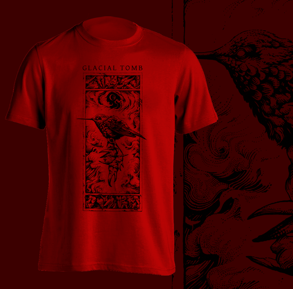 Bird and Teeth T-Shirt (BLACK/RED)