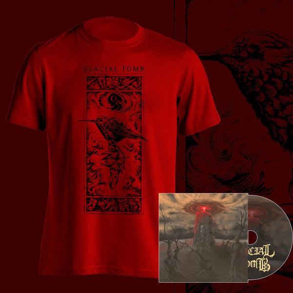 Bird and Teeth T-Shirt (Black/Red)+ CD Bundle