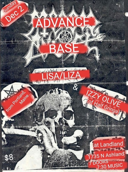 Advance Base + Lisa/Liza + Izzy Olive in Chicago 12/2