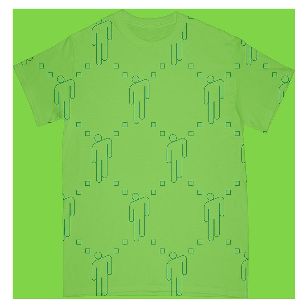 Blohsh Pattern Tee - Lime Green
