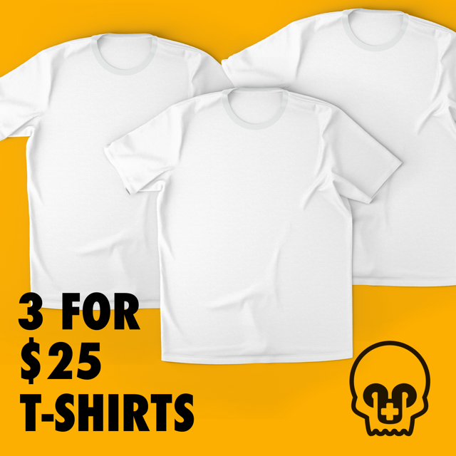 3 SHIRTS FOR $25