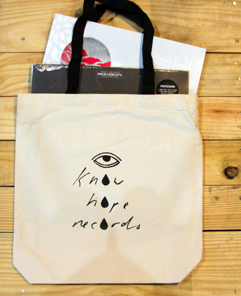 Know Hope Tear Drop Tote (Hand Drawn)
