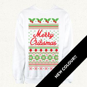 Merry Cribsmas Jumper - White