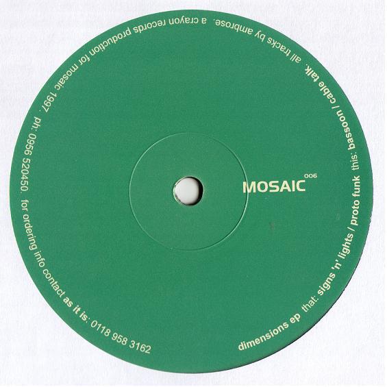 Mark Ambrose – Dimensions EP (Mosaic)