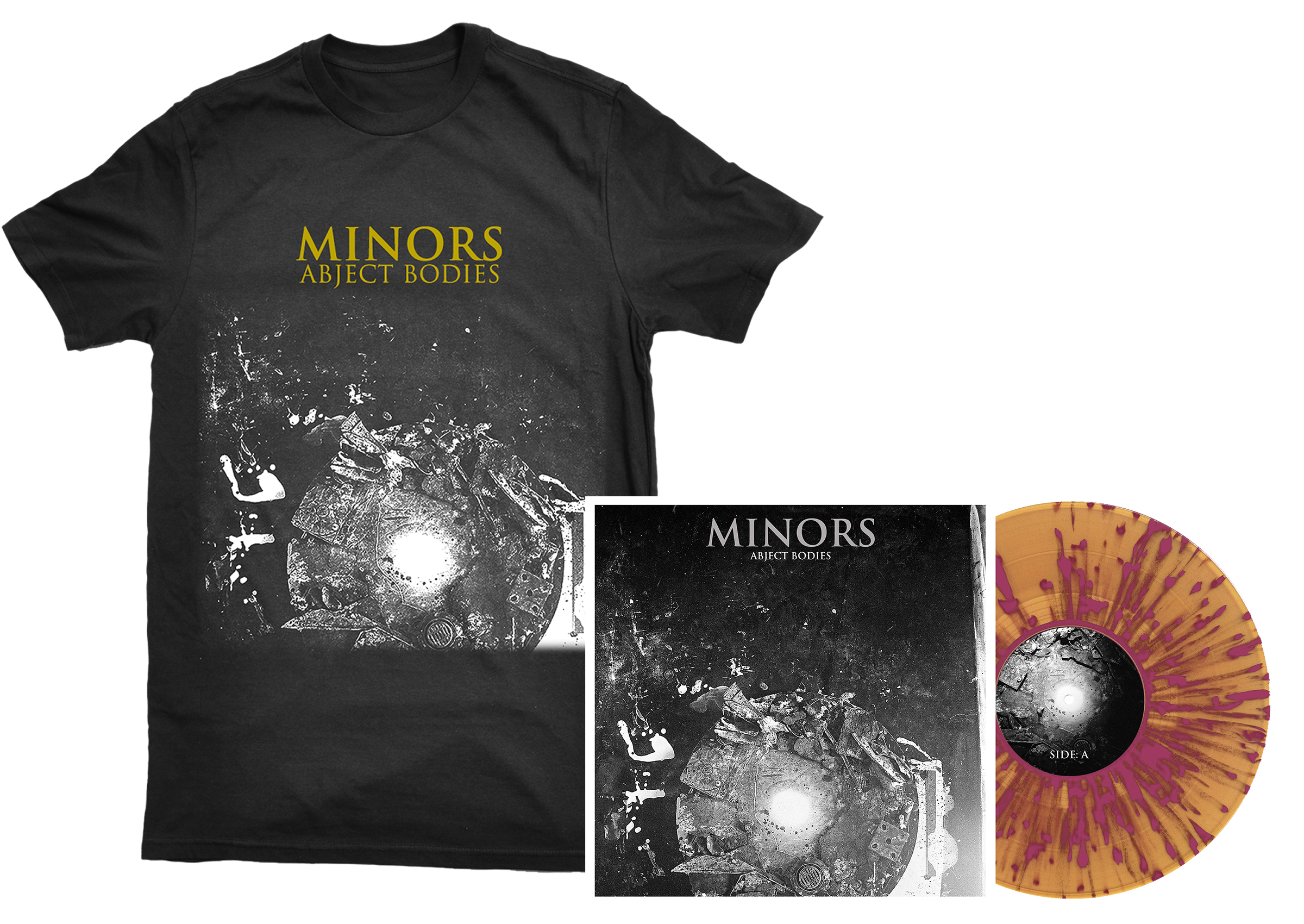Minors - Abject Bodies shirt + LP PREORDER