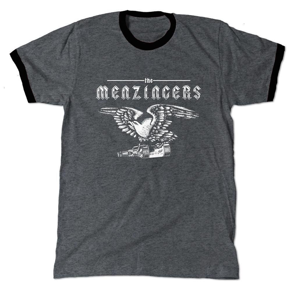 Eagle with Bottle Ringer T-Shirt