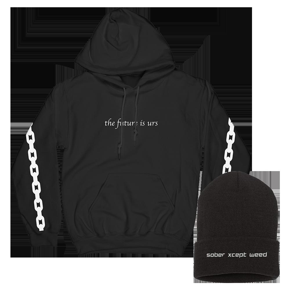 future is urs hoodie + sober beanie
