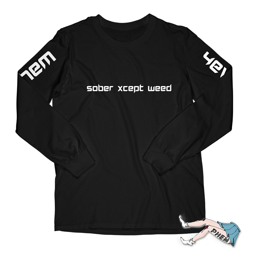 sober xcept weed long sleeve + legs pin