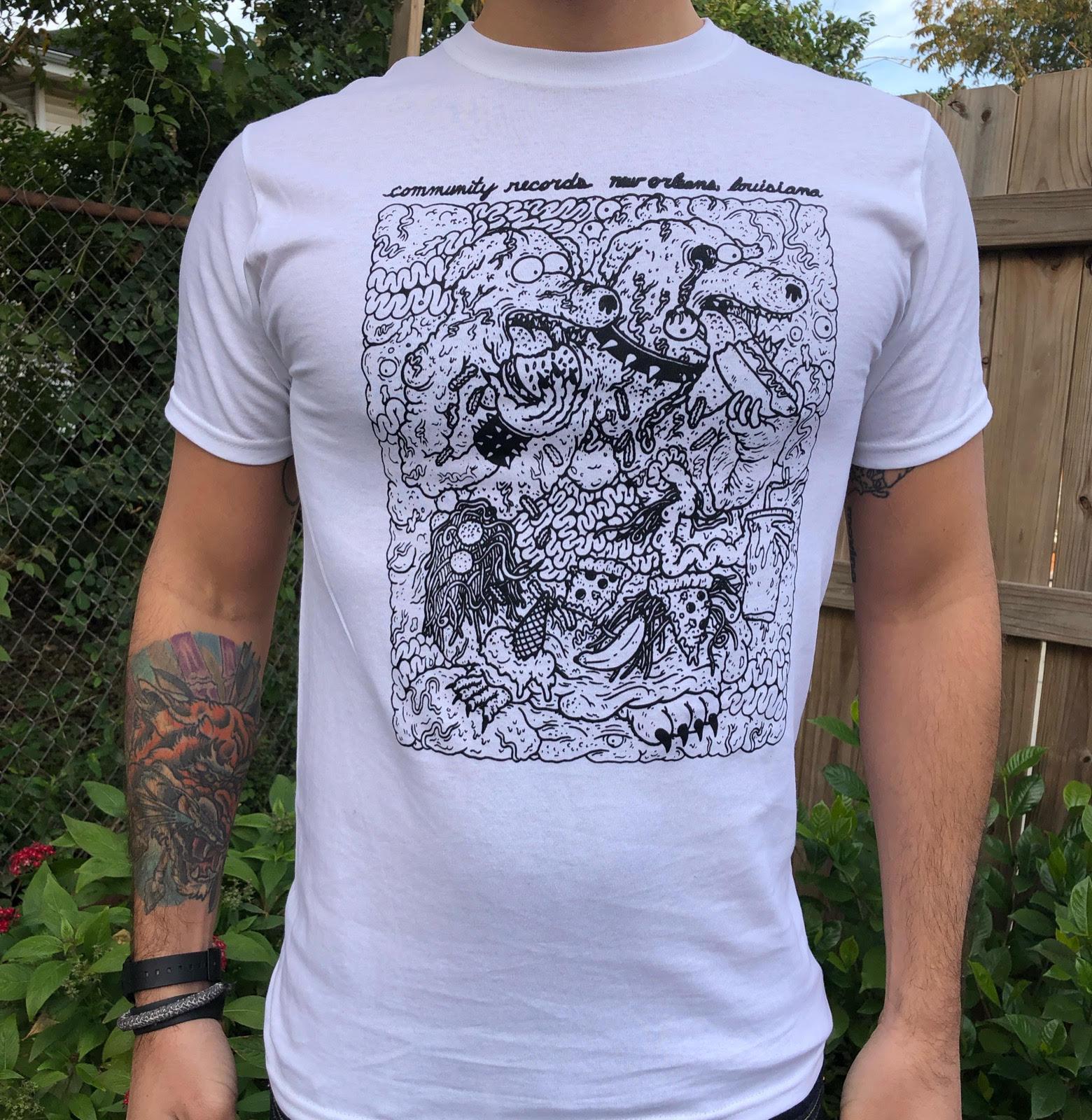 fef562003 COMMUNITY RECORDS - Community Records - Blob Shirt (black ink on ...