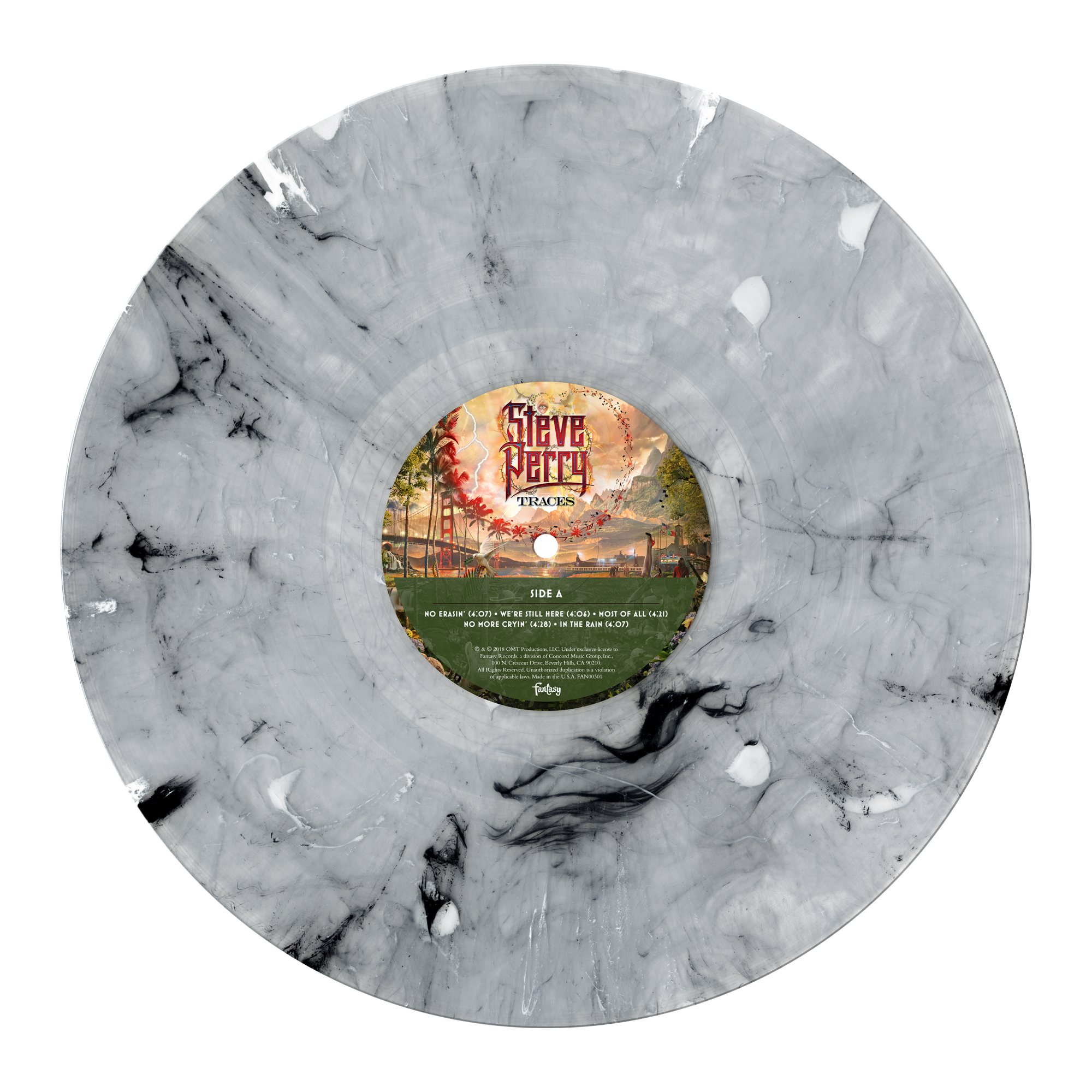 Deluxe Vinyl 2xLP (White Marble) + Patch