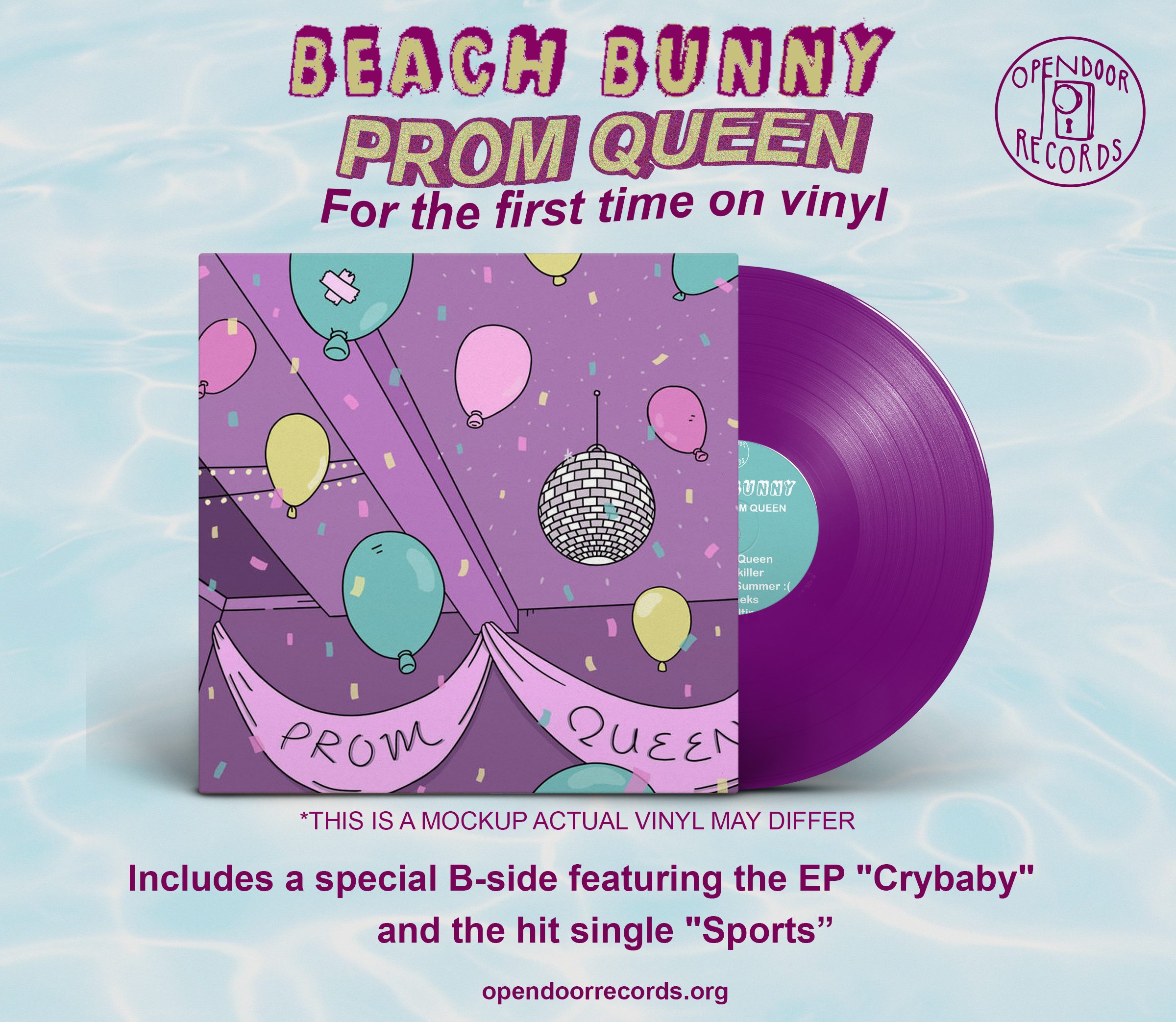 Beach Bunny - Prom Queen + Crybaby / Sports 12