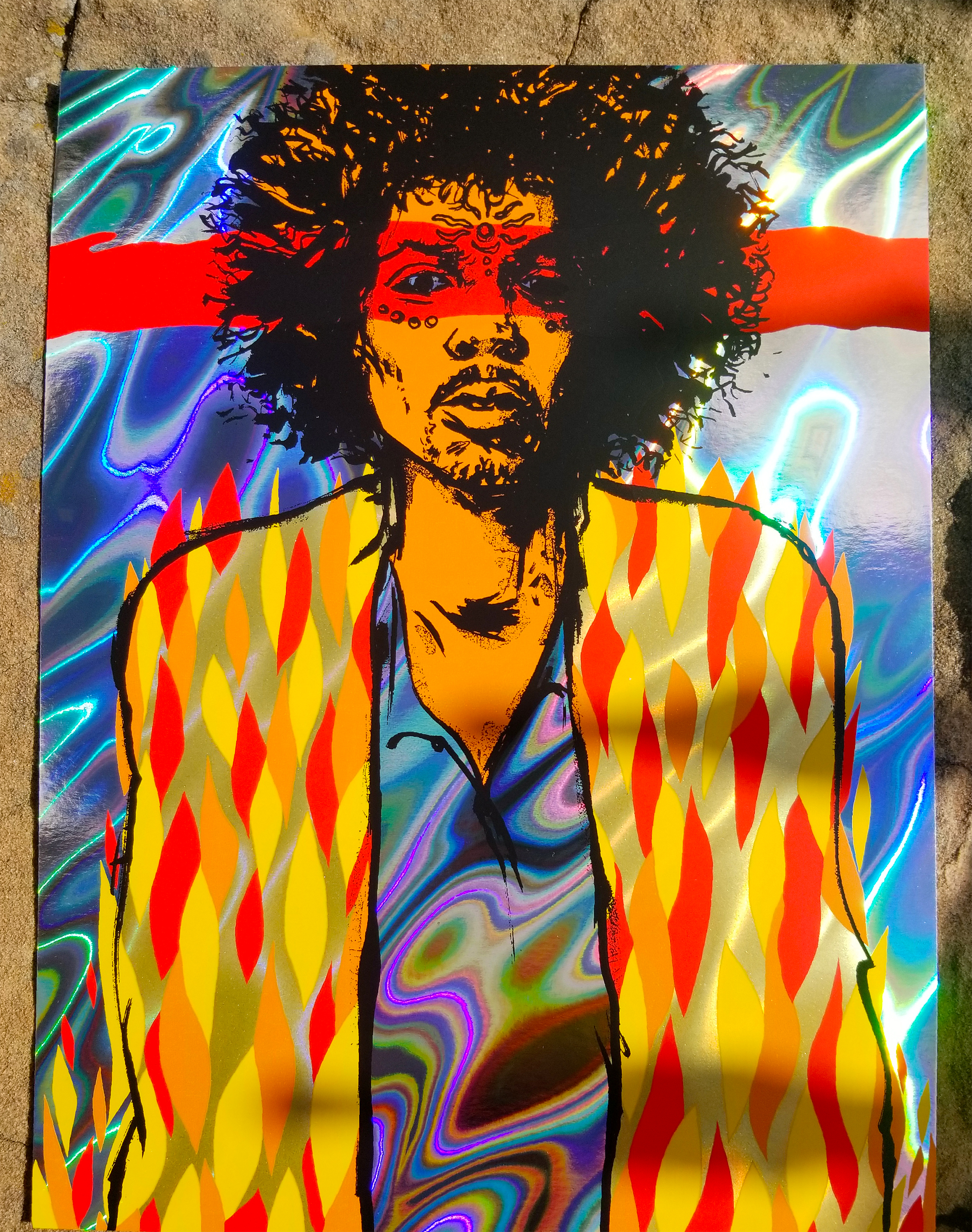 NEW - 'Voodoo' (Hendrix) Mini Print (VARIANTS)