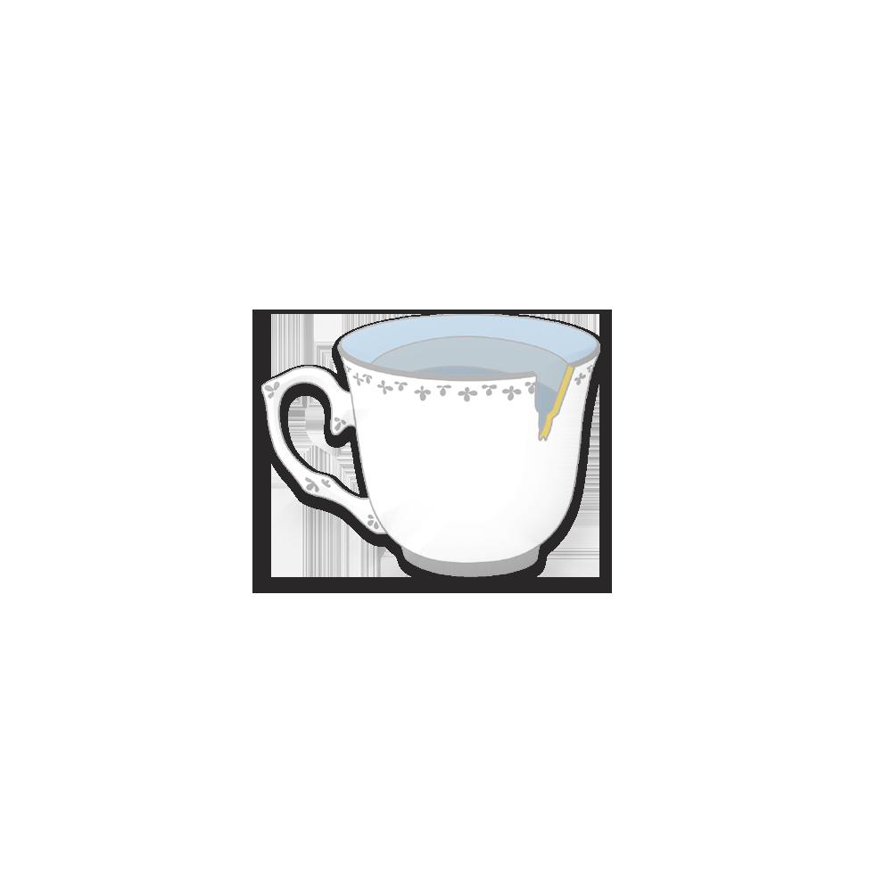 Porcelain Cup Pin
