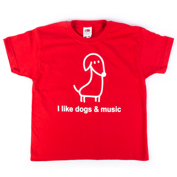 I Like Dogs & Music Kids Shirt